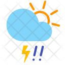 Day Hail Storm Icon