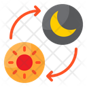 Day And Night Time Clock Icon