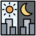 Day And Night Night Moon Icon