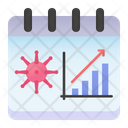 Day To Day Spread Virus Graph Icon