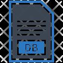 Db File Document Icon