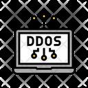 Ddos Attack Color Icon