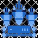 Ddos High Attack Cyber Attack Danger Icon