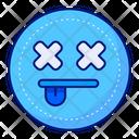 Dead Death Emoticon Icon
