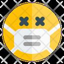 Dead Emoji With Face Mask Emoji Icon