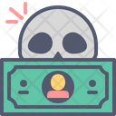 Dead Dollar Dollar Skull Icon