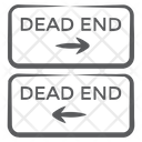 Dead End Direction Road Sign Traffic Sign Icon