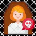 Dead Person Female Icon