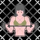 Weight Lifting Deadlift Woman Female Bodybuilder Icon
