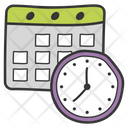 Deadline Time Running Out Work Time Icon