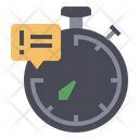 Deadline Line Stopwatch Icon