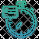 Deadline Line Stopwatch Icon