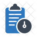 Deadline Clipboard Document Icon