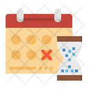 Calendar Deadline Time Icon