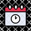 Deadline Stopwatch Calendar Icon