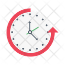 Deadline Clock Fast Icon