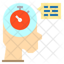Time Clock Chat Icon