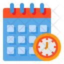 Calendar Meeting Period Icon