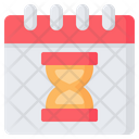 Deadline Clock Hourglass Icon