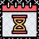 Deadline Clock Hourglass Icon