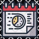 Deadline Date Schedule Icon