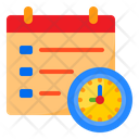 Deadline Clock Watch Icon