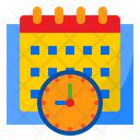 Deadline Calendar Clock Icon