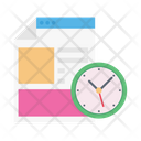 Deadline Webpage Design Icon