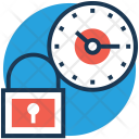 Time Lock Clock Icon