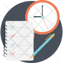 Checklist Clock Schedule Icon