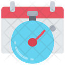 Deadlines Clock Schedule Icon