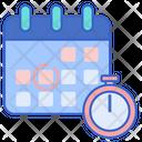 Deadlines Calendar Date Icon