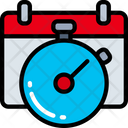 Clock Schedule Time Keeping Icon