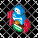 Deadly Poison Skull Icon