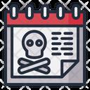 Death Halloween Date Icon