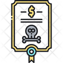 Death Bond Bond Death Certificate Icon