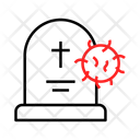 Death Form Coronavirus Icon