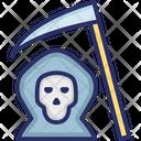 Death With Scythe Ghost Halloween Death Icon
