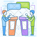 Debate Speech Discussion Icon