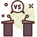 Debate Versus A Vs B Icon
