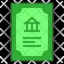 Debenture Bond Bank Icon