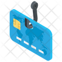 Debit Card Hack Phishing Attack Cyber Crime Icon