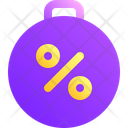 Debt Percent Business Icon