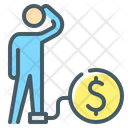 Crisis Debt Person Icon
