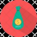 Debt Saving Money Icon
