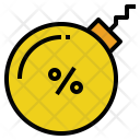 Debt Rate Percent Icon