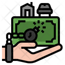 Debt Financial Problem Loan Bankruptcy Icon