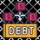 Debt Consolidation Devt Money Capital Icon