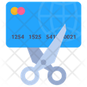 Debt Free Cut Destruction Icon