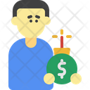 Debt Problem Charge Credit Icon
